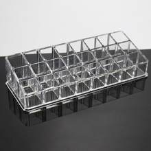 New 24 Grid Lipstick Holder Display Stand Clear Acrylic Cosmetic Organizer Makeup Case Eyebrow Pencil Rack Lipstick Storage Box(China)