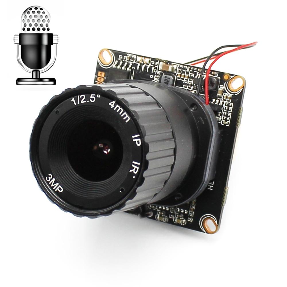 CCTV HD 720P 1080P IP Camera Module Board Audio Input With External Pickup Microphone CS LENS ONVIF P2P Security ip camera module board with ircut audio input with external pickup microphone xmeye cctv camera 1080p onvif 3 7mm lens onvif