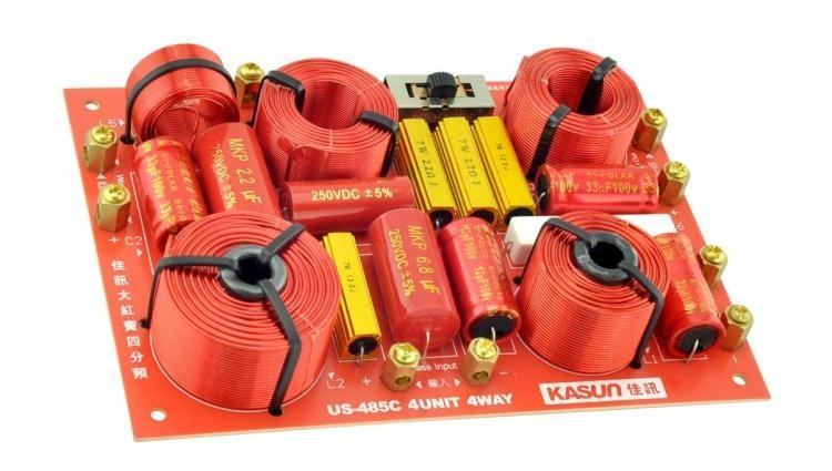 2 шт. Kasun US 485C 4Way высокое качество Динамик аудио кроссовер пересекаются частоты точки 380 Гц 850 Гц 4600 Гц
