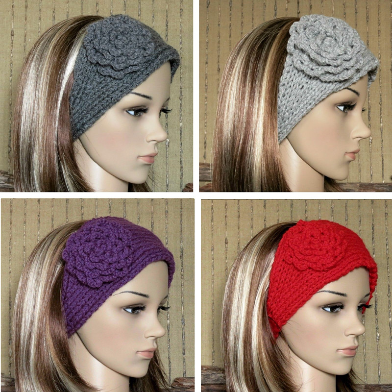 Aliexpress.com : Buy 24 Colors Knitted Flower Headbands