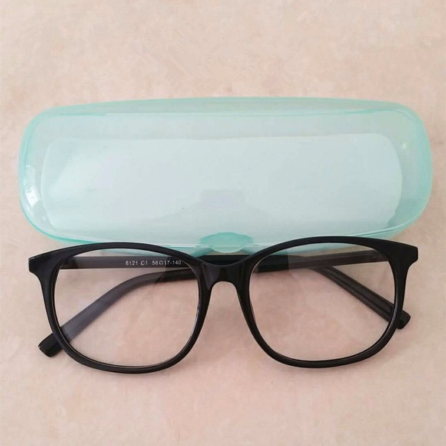 Roupai Plain Glasses Frame Unisex Retro Myopia Fake Eyeglasses