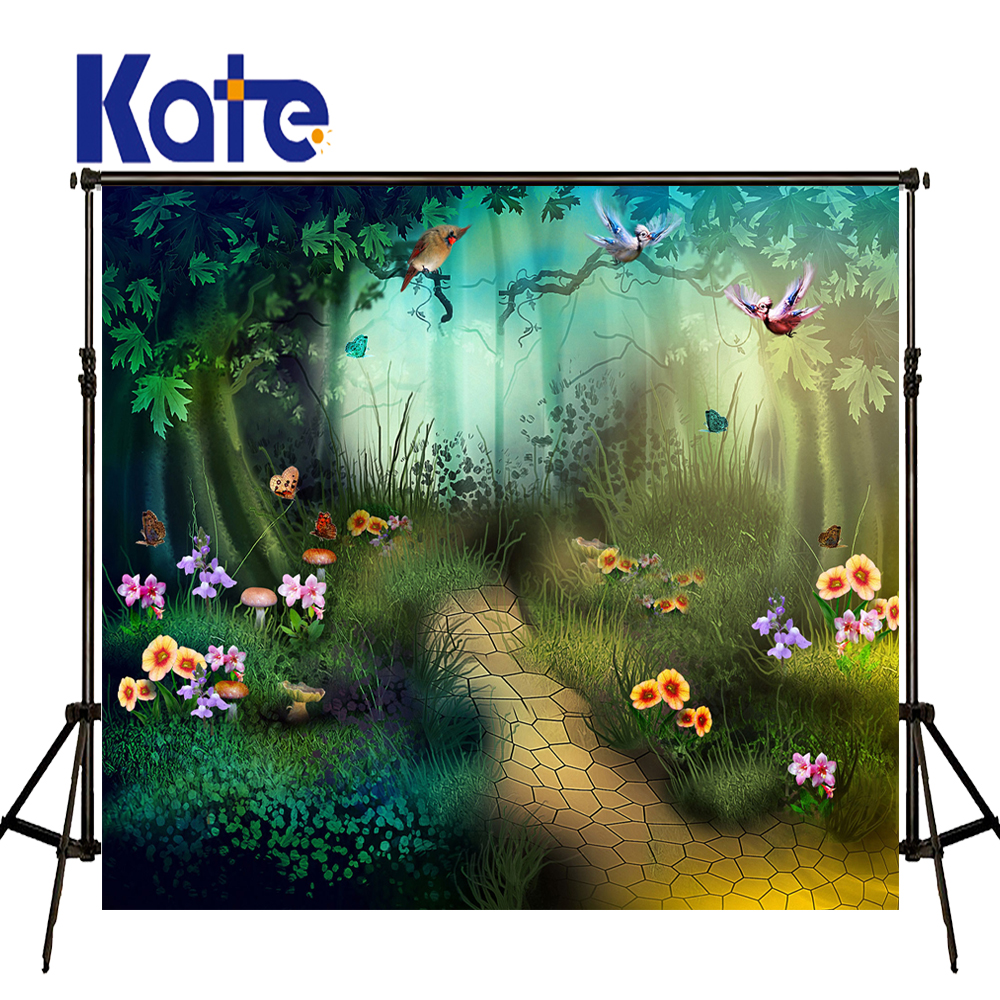 Kate Green Tree Background Spring Photography Backdrops Forest Background Multi-size Can Washed Background for Photos studio сумка kate spade new york wkru2816 kate spade hanna