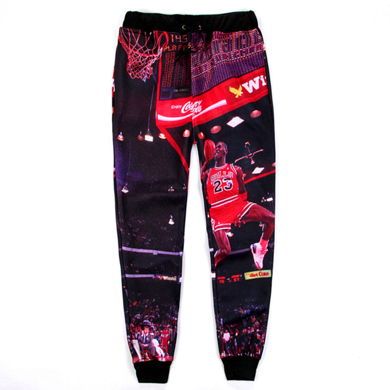 6a2295d54b1c1b New Jogger Pants Michael Jordan Character Shooting Graphic 3D Printed  Sweatpants Hip Hop Style Loose Casual Trousers Hombre-in Harem Pants from  Men s ...
