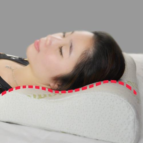 gratis forsendelse 100% bambus fibercover langsom rebound memory foam pude cervical sundhedspleje