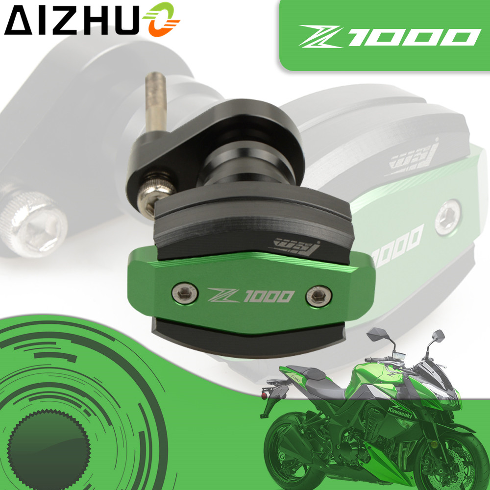 For Kawasaki Z1000 Motorcycle Frame Slider Crash Pads CNC Aluminum Falling Protection Engine Case Sliders Protector Z1000 LOGO