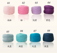 200 Gram Skein Natural Soft Tencel Combed Cotton Yarn Knitting Yarn Skein Worsted Crochet Yarn For