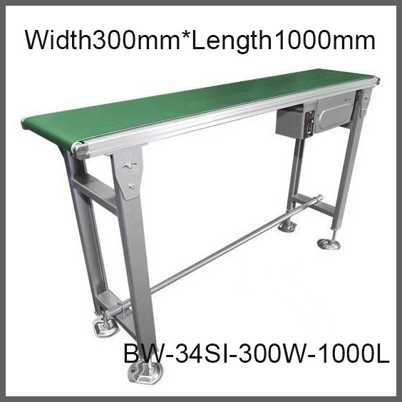 300mm Width * 1000mm Factory Supply Belt Conveyor 30Kg Loading PVC / PU Belt  Constant or Variable Speed Compact Belt Conveyor