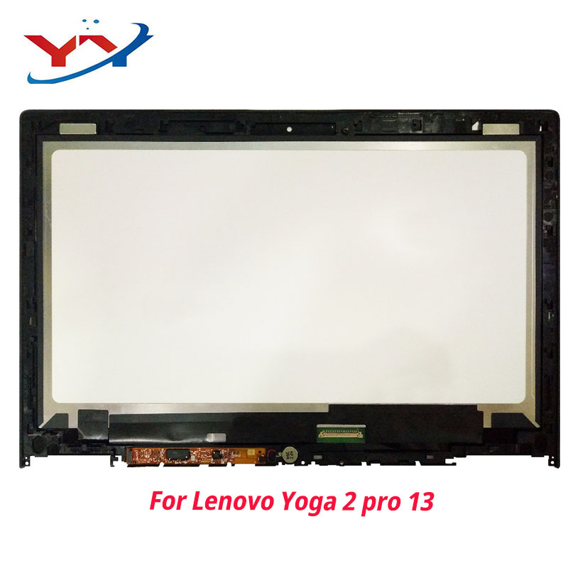 For Lenovo IdeaPad Yoga 2 Pro  20266 LTN133YL01 Full LCD Display Panel Touch Screen Glass Monitor Digitizer Assembly With Frame