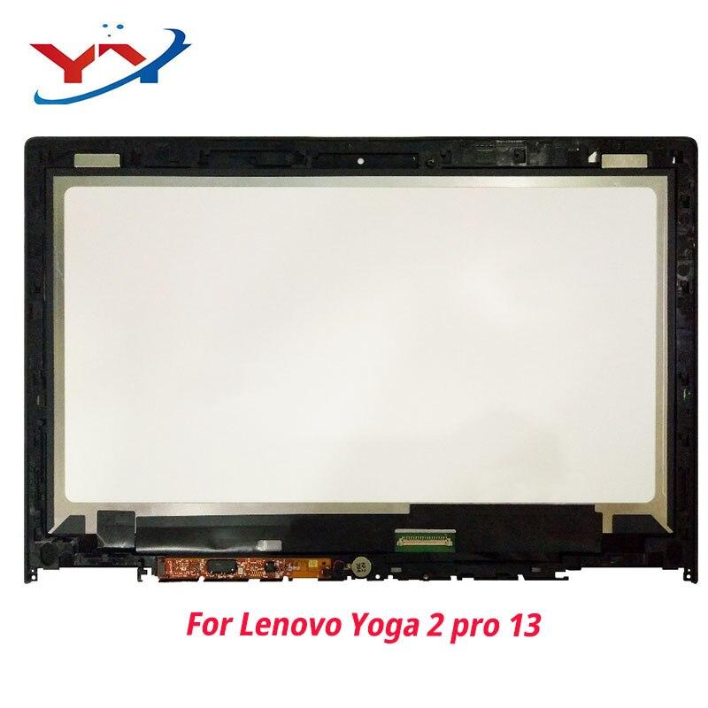 Para Lenovo IdeaPad Yoga 2 Pro 20266 LTN133YL01 Display LCD Monitor de Tela de Toque De Vidro Do Painel de Digitador Assembléia Completo com Quadro