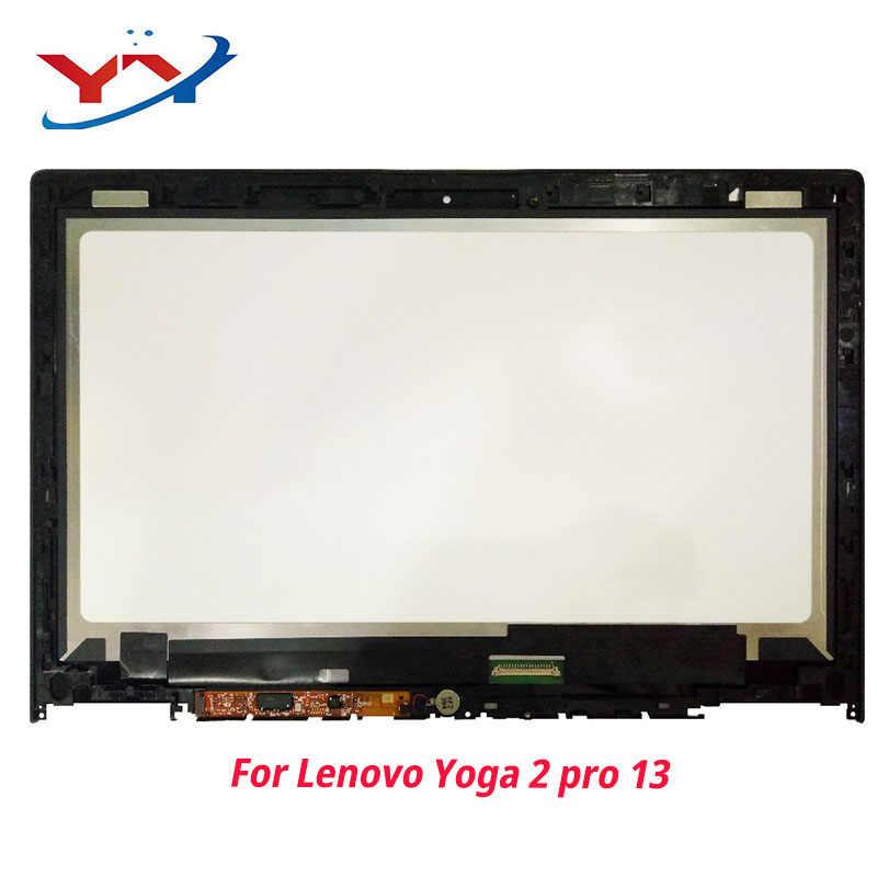 Для lenovo IdeaPad Йога 2 Pro 20266 LTN133YL01 Полный ЖК дисплей панель сенсорный экран Стекло монитор цифрового преобразователя сборки с рамки