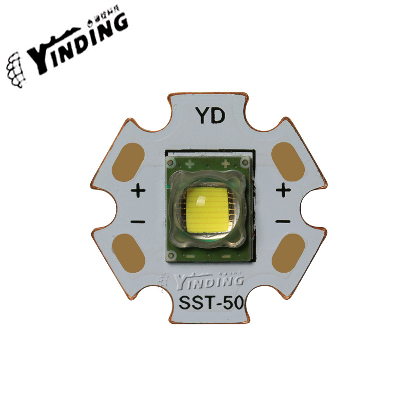 Luminus SST-50 15W high-power LED Emitter Neutral/Cold white flashlight light source LED Chip diode bulb with 20mm copper PCB