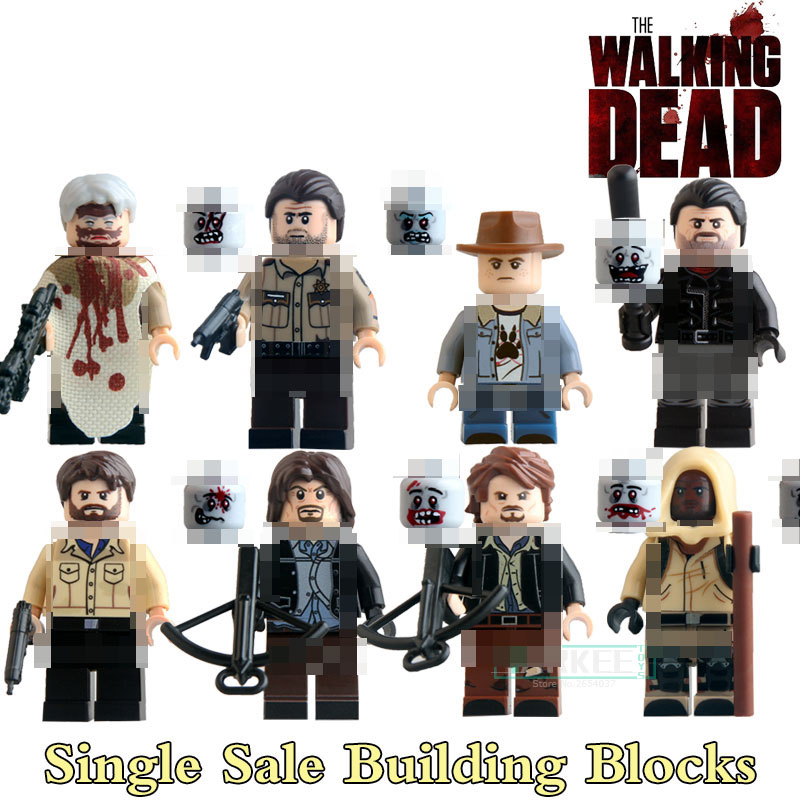 Educational Blocks Carl Daryl Rick Negan The Walking Dead Figures Super Heroes Star Wars Building Bricks Kids DIY Toys KL9003 building blocks the walking dead figures rick negan carl daryl star wars super heroes set assemble bricks kids diy toys hobbies