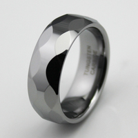 8MM Tungsten Carbide Rings Comfort Fit Jewelry For Men Wedding Engagement Faceted Bands New Sizes 9