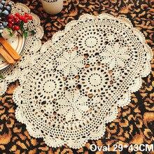Винтажный хлопковый коврик ручной работы, вязанные крючком цветы, столовый коврик, овальная скатерть, декор свадебного банкета, каминная стойка, индивидуальный коврик