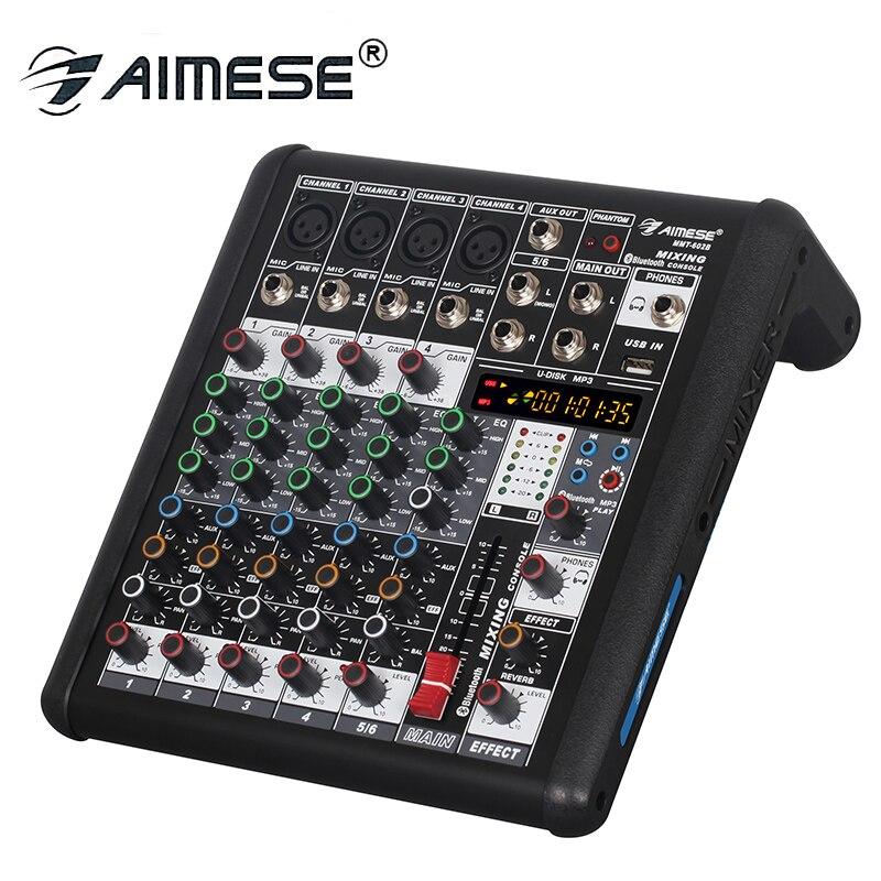 Mx400 Mixer Hause Bühne Mini Vier Kanal Mixer Mini Mikrofon Vorderen Verstärker Hub Audio Prozessor Kleine Audio Mixer Konsole Professionelle Audiogeräte Tragbares Audio & Video
