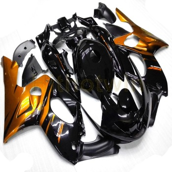 Custom fairing for YZF600R 1997 1998 1999 2000 2001 2002 2003 2004 2005 Thundercat YZF-600R+Botls+gold  black