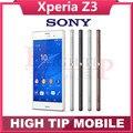 "Abierto original sony xperia z3 d6603 quad-core 5.2 ""pantalla táctil 3g y 4g 3 gb ram 16 gb rom cámara 20.7mp teléfono celular reparado"