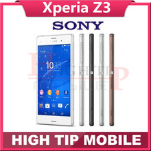 Original Unlocked Sony Xperia Z3 D6603 Quad-Core 5.2″TouchScreen 3G&4G 3GB RAM 16GB ROM 20.7MP Camera Cell Phone Refurbished