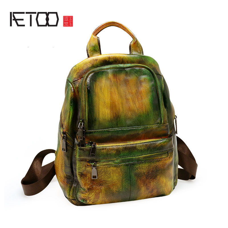 AETOO Shoulder bag female leather new retro Japanese and Korean casual shoulder bag ladies bag leather backpack female женские брюки other japanese and korean brands