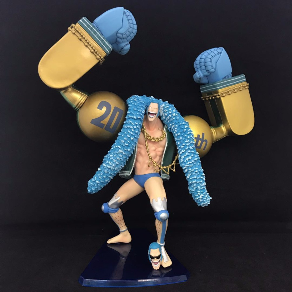 Free Shipping 10 One Piece Anime 20th Anniversary Franky Boxed 26cm PVC Action Figure Collection Model Doll Toy Gift free shipping new anime one piece boa hancock pvc action figure hancock fighting style figure model toy 15cm