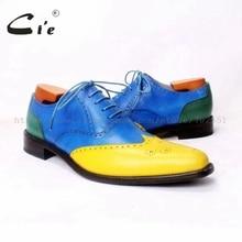 Cie BespokeMen Обуви Ручной Работы Мужская обувь мужская Оксфорды Из Натуральной Кожи Телячьей Кожи Подошва Дышащий Высокое Качество OX371 Size6-14