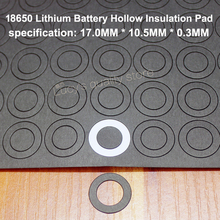 100pcs/lot 18650 Lithium Battery Insulation Gasket Meson Flat Head Pad Black Fast Paper Diy Fittings 100pcs lot 18650 lithium battery positive insulation gasket meson 5s hollow flat head paper insulation pad battery accessories