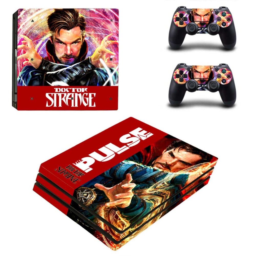 Ps4 PRO for Playstation 4 PRO Console Skin Decal Sticker DOCTOR STRANGE+ 2 Controller Skins Set (Pro Only)