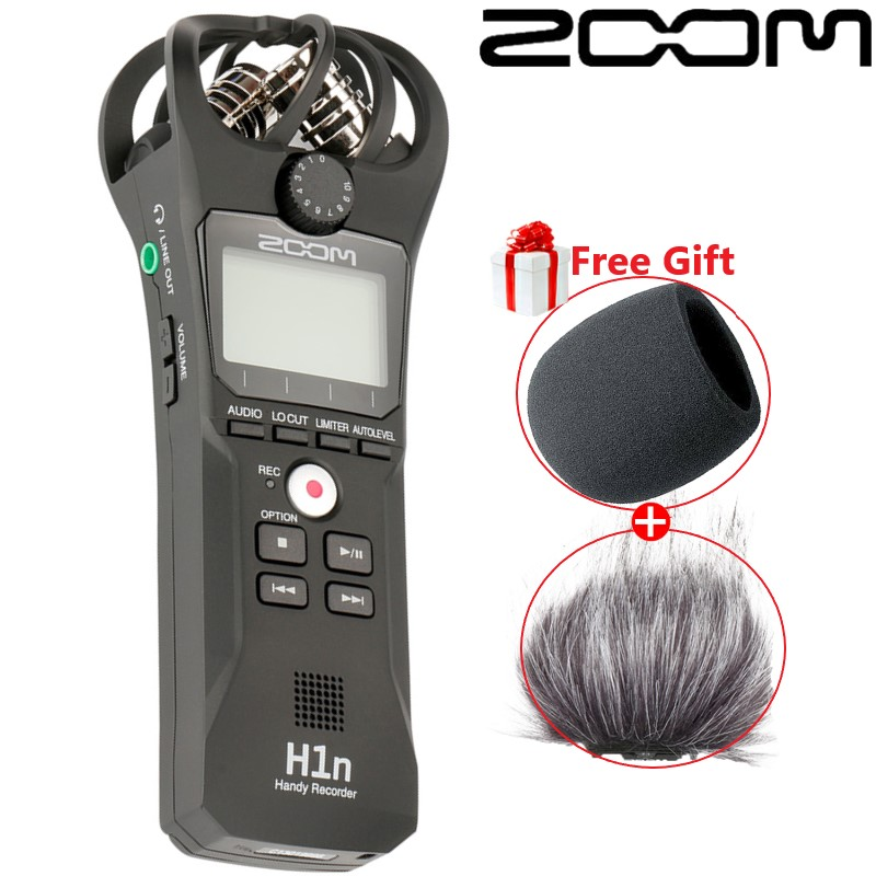 Black ZOOM H1N professional music meeting recorder SLR micro movie recording microphone USB microphone function