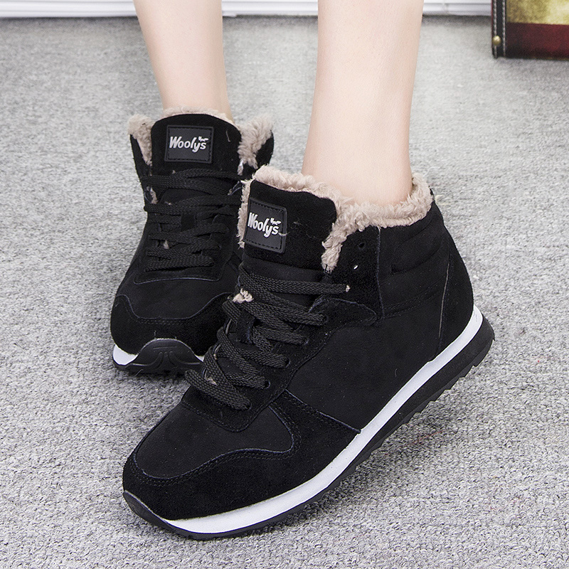 Women Shoes Winter Women Flats Plus Size 35-46 Unisex Lovers Winter Shoes Woman Causal Chaussures Femme Winter Sneakers Female