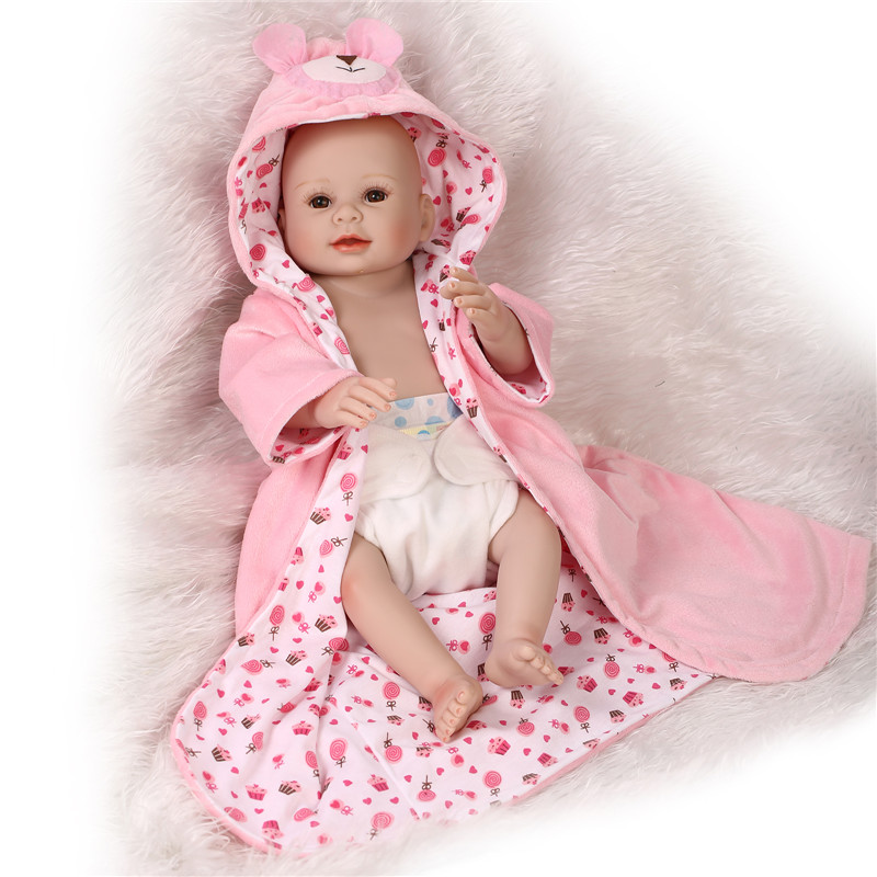 Latest 50cm full body silicone reborn baby girl doll toys for girls play house reborn babies toy birthday gift girls brinquedos in dolls from toys