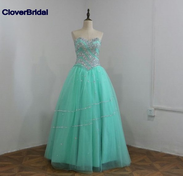 Sparkly stones beaded mint green 3 pieces quinceanera dresses ball gowns 2016 with bolero jacket short dress with long skirt