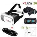 VR 2.0 VR Виртуальная Реальность 3D Очки Картонный ЯЩИК Для iPhone 6/6 плюс Samsung Мобильных Телефонов + Пульт дистанционного управления Геймпад