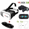 VR Box 2.0 Virtual Reality 3D Glasses Cardboard VR BOX For  iPhone 6/6 plus Samsung Cellphones + Remote Controller Gamepad
