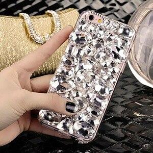 Image 5 - LaMaDiaa Bling Strass Cristal Diamant Renard et Couronne Arrière Souple Housse de Téléphone Pour iPhone 12 11 Pro Max XR X 6 Plus 7 8 Plus