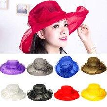 Винтажные ковбойские шляпы для женщин, Элегантные повседневные летние шляпы из органзы, ретро темпераментные кепки с цветами, морские пляжные шляпы
