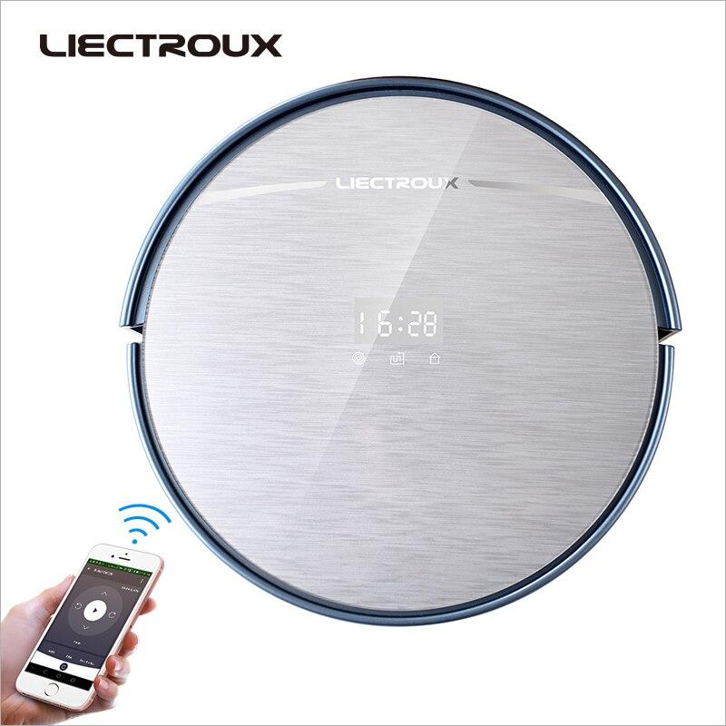 LIECTROUX X5S aspiradora Robot WIFI APP Control giroscopio navegación conmutable del tanque de agua y polvo Bin horario de carga automática