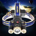 Super Zoom 15000LM 3X XM-L T6 LED Rechargeable 18650 Headlamp Headlight Light Torch 170127