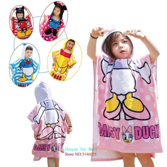 6 Styles Cat Duck Bear Hooded Animal Modeling Baby Bathrobe Cartoon Towel  Character Beach Towel Infant 83bdb2828
