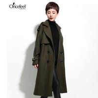 Clothing Loose Thin Coat Wool Jacket To Send Long Stretch Trench Coat Women Long Women S