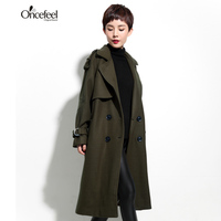 Clothing Loose Thin Coat Wool Jacket To Send Long Stretch Trench Coat Women Long Women S