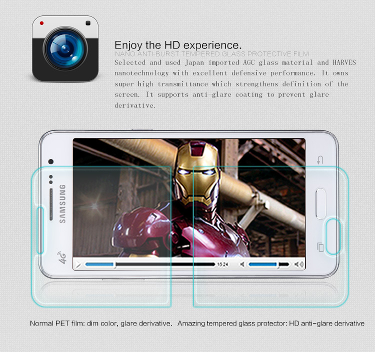 Dreamsow Tempered Glass For Samsung Galaxy Grand Core Prime Neo Plus A3 A5 J1 J5 J1mini 2015 2016 G355H Screen Protector Film