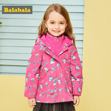Balabala children's jackets for girls Outerwear autunm clothes kids Clothing sport coats Frontal clothing children's windbreaker