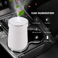 BORUiT Car Humidifier Air Purifier 300ml Aroma Essential Oil Diffuser Aromatherapy Portable Car Air Auto Mist Maker Fogger