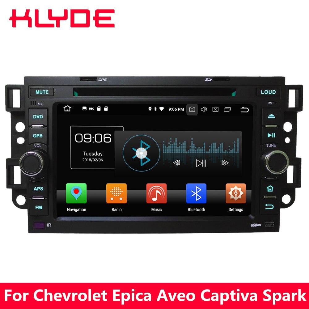 KLYDE 7 4 г Android 8,0 Octa Core 4 ГБ + 32 ГБ dvd-плеер автомобиля радио для Chevrolet холден Daewoo лова Aveo Epica Tosca Спарк Captiva