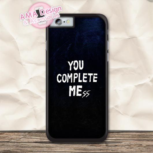 You Complete Mess Me Protective Case For iPhone X 8 7 6 6s Plus 5 5s SE 5c 4 4s For iPod Touch