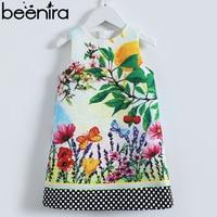 Beenira Girls Dress Kids Europen Style Sleeveless Clothes Pattern Printed Dress For Kids Baby 4 14 Years Children Cloth Dress