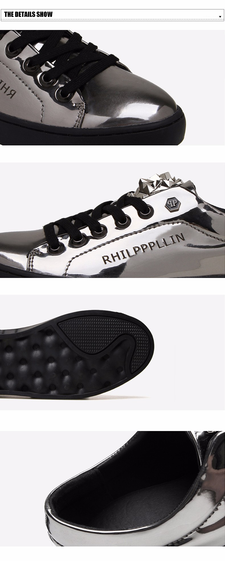 KUYUPP 2016 High Quality PU Patent Leather Men Flats Shoes Leopard Head Sequined Skate Shoes Round Toe Lace Up Men Flat Heel Y31 (6)