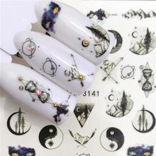 Lcj 1 Pc Del Chiodo Autoadesivi Della Decalcomania Dellacqua Del Fiore Animale Flora Motivo 3D Manicure Sticker Unghie Artistiche Decorazione