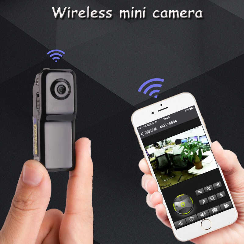Мини Wifi камера Поддержка карты памяти петля видео маленькая Карманная камера мини DV домашняя видеокамера P2P камера
