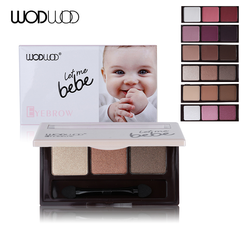 Eye Shadow Beauty Essentials Search For Flights Wodwod Makeup Brand Baby Smooth 3 Color Matte Eye Shadow Palette Shimmer Eyeshadow Glitter Eyebrow Powder Natural Long-lasting Sturdy Construction